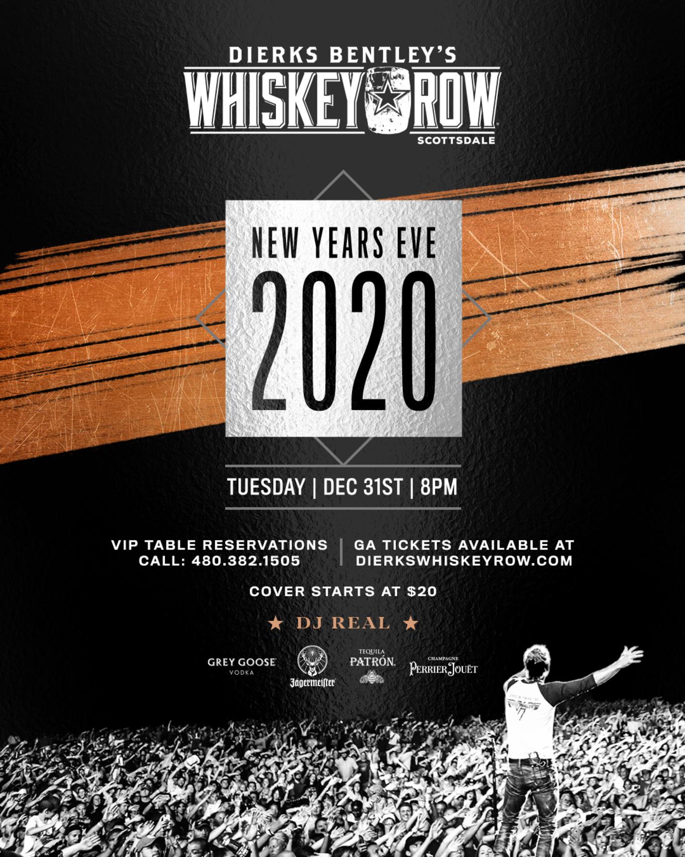 Dierks Bentley Tour 2020.New Year S Eve 2020 Tickets Dierks Bentley S Whiskey Row