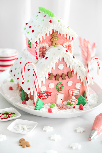 Gingerbread House Pink Decorating Party