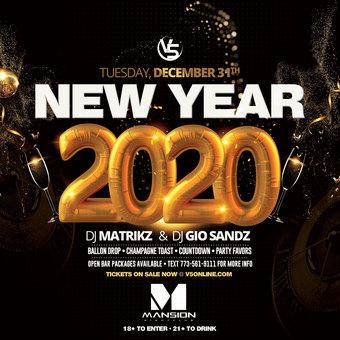 NYE 2020 at Mansion Nightclub