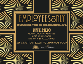 EMPLOYEES ONLY NYE 2020
