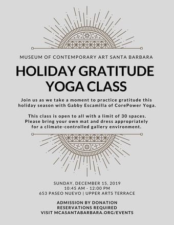 Holiday Gratitude Yoga