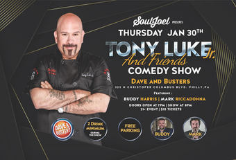 Philadelphia, PA:  Tony Luke JR and Friends at Dave & Busters