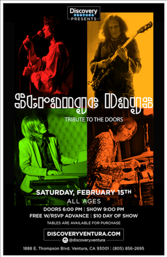 Strange Days - Tribute to The Doors at Discovery Ventura