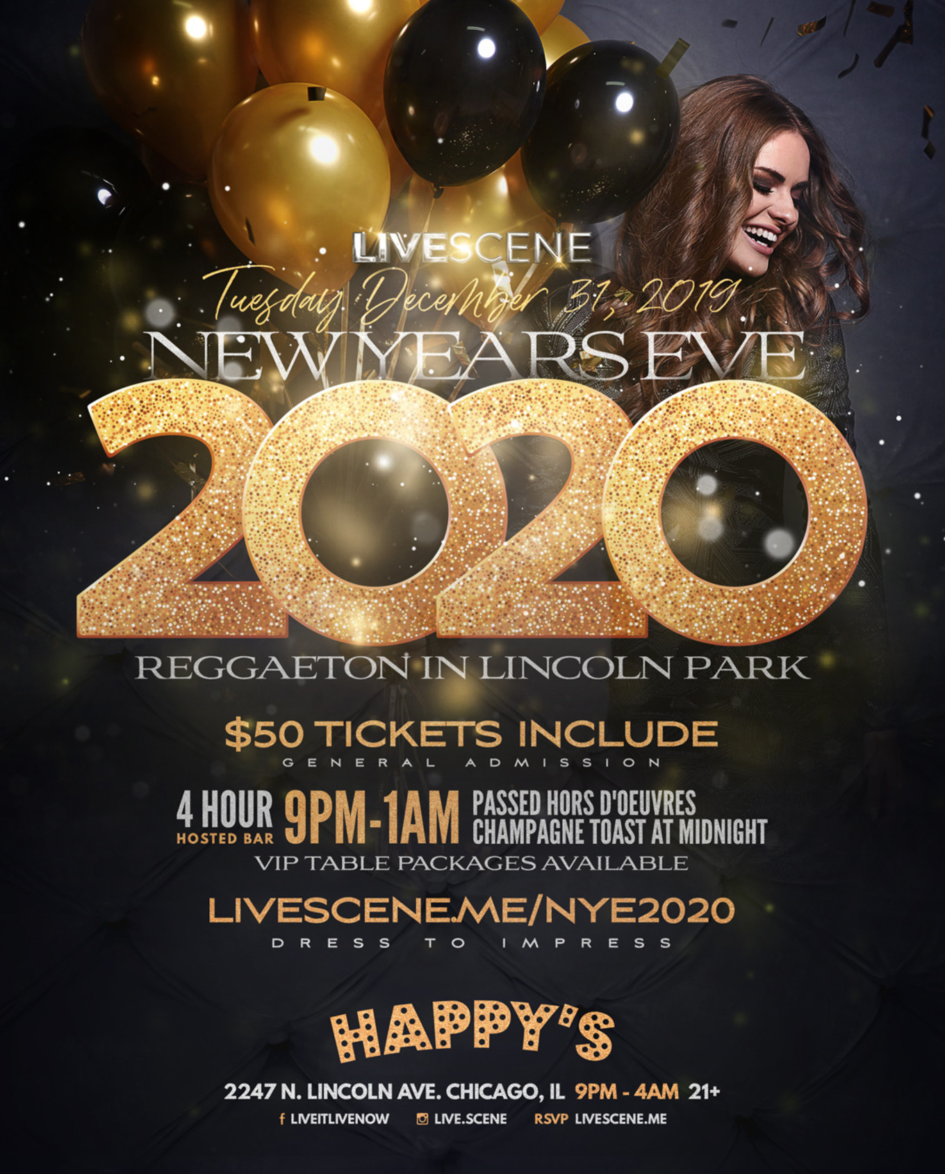 New Years Eve 2020 - Tickets - Happys Bamboo Bar , Chicago ...