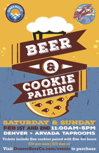 Denver Beer Co's Beer & Cookie Pairing Both Taprooms!