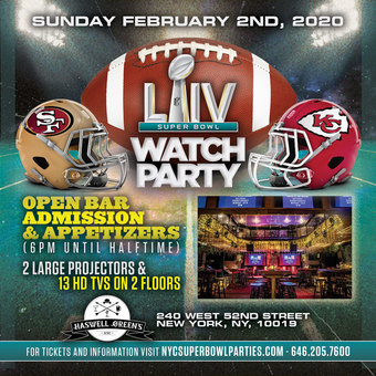 NYC Super Bowl Party at Haswell Greens