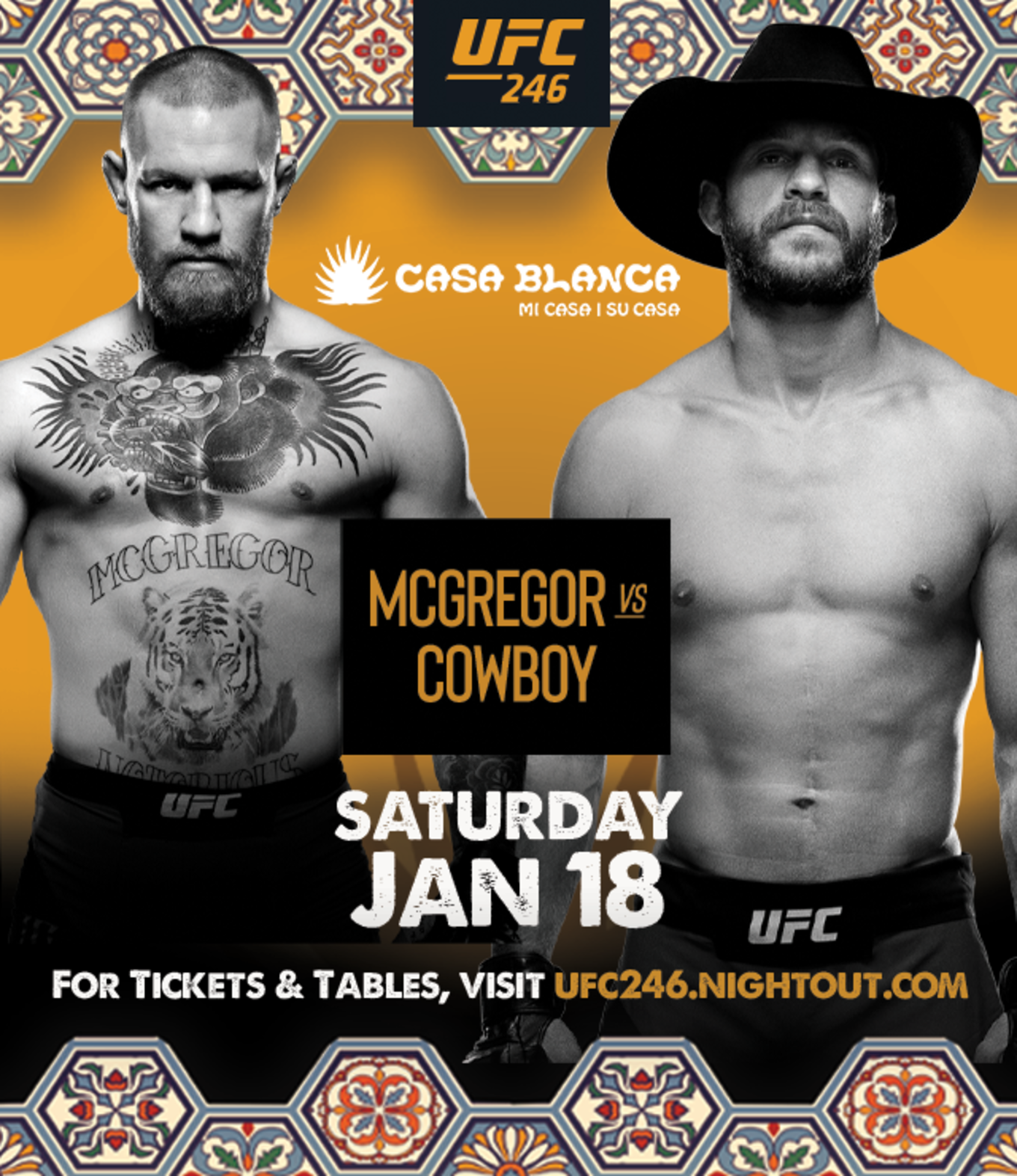 Ufc 246 Viewing Party Casa Tickets Casa Blanca