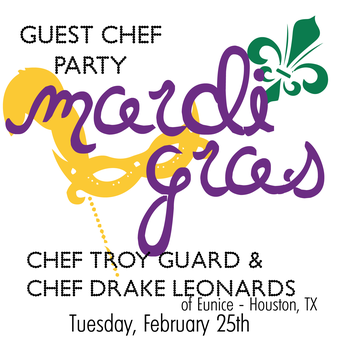 Mardi Gras Guest Chef Collaboration @ COMMISSARY