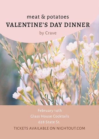 Valentine's Day Dinner at Glass House!