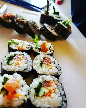 Sip & Sushi at STEM CIDERS