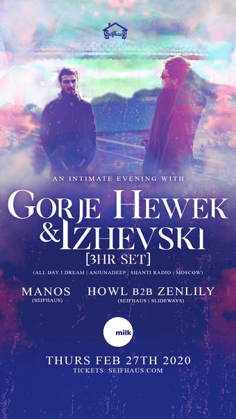 An Intimate Evening w/ Gorje Hewek & Izhevski [3HR SET] (All Day I Dream | Shanti Radio | Moscow)