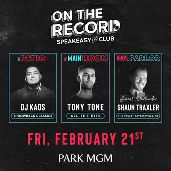Tony Tone On The Record Las Vegas