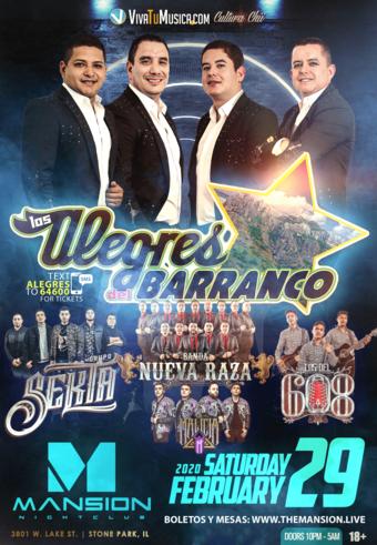 Los Alegres del Barranco at Mansion Nightclub