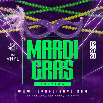 Mardi Gras @ VNYL 2/27