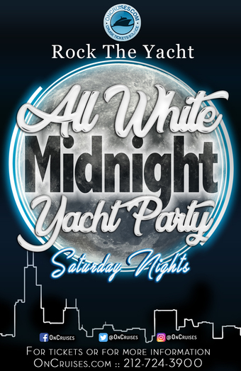 Rock the Yacht: All White Midnight Yacht Party Cruise