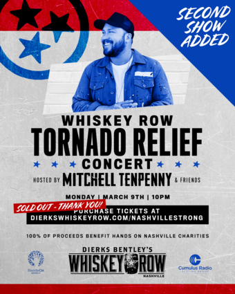 ***ALL SHOWS SOLD OUT*** The Whiskey Row Tornado Relief Concert Hosted by Mitchell Tenpenny & Friends