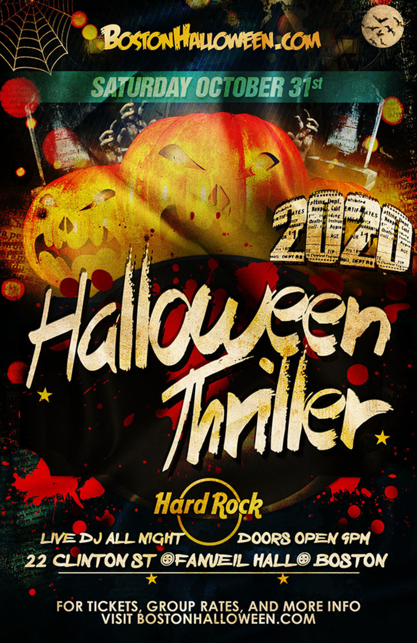 October 31 2020 Halloween Events Haverhill, Ma Hard Rock Cafe Boston Halloween Thriller   Tickets   October 31, 2020