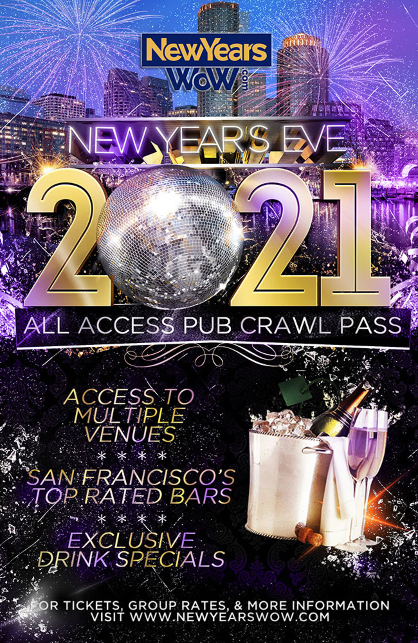 Ey San Francisco Christmas Party 2021 San Francisco All Access Nye Party Pass 2021 Tickets The Blue Light Various Venues San Francisco Ca December 31 2020