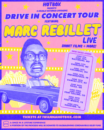 MARC REBILLET Drive-In Tour (Charlotte, NC) presented by HOTBOX. DOORS at 6:30 PM! Show at 9PM!