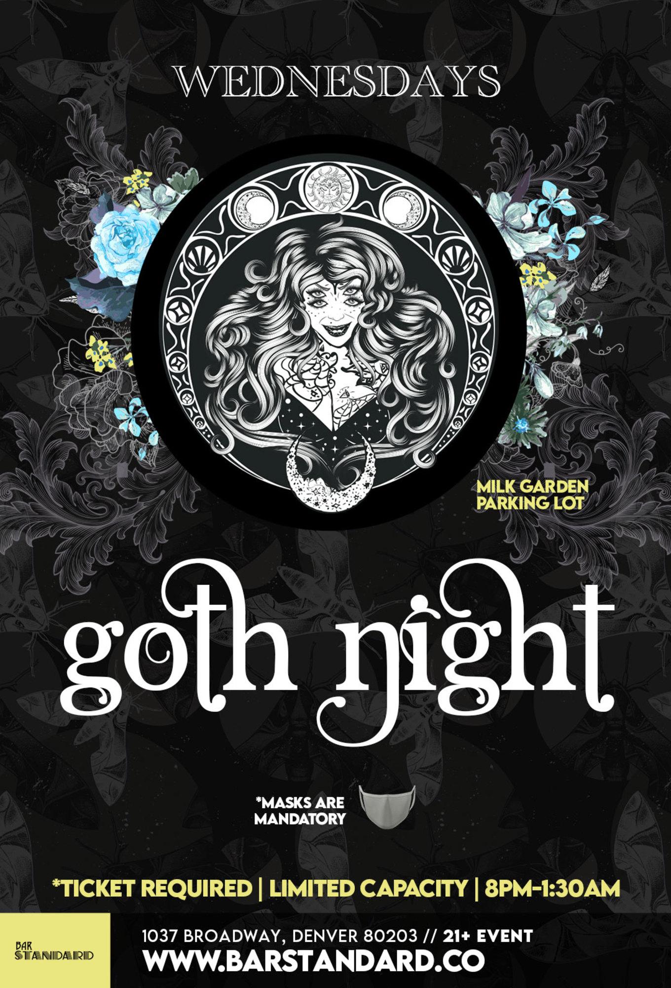 Milk Bar Denver Goth Halloween 2020 Milk Bar Presents: Goth Night in the Milk Garden   Milk, Denver, CO