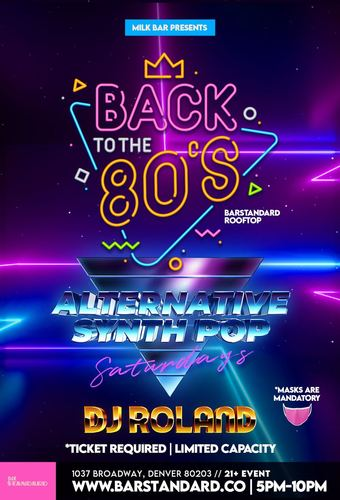 Milk Bar Presents: Back to the 80's Rooftop Happy Hour