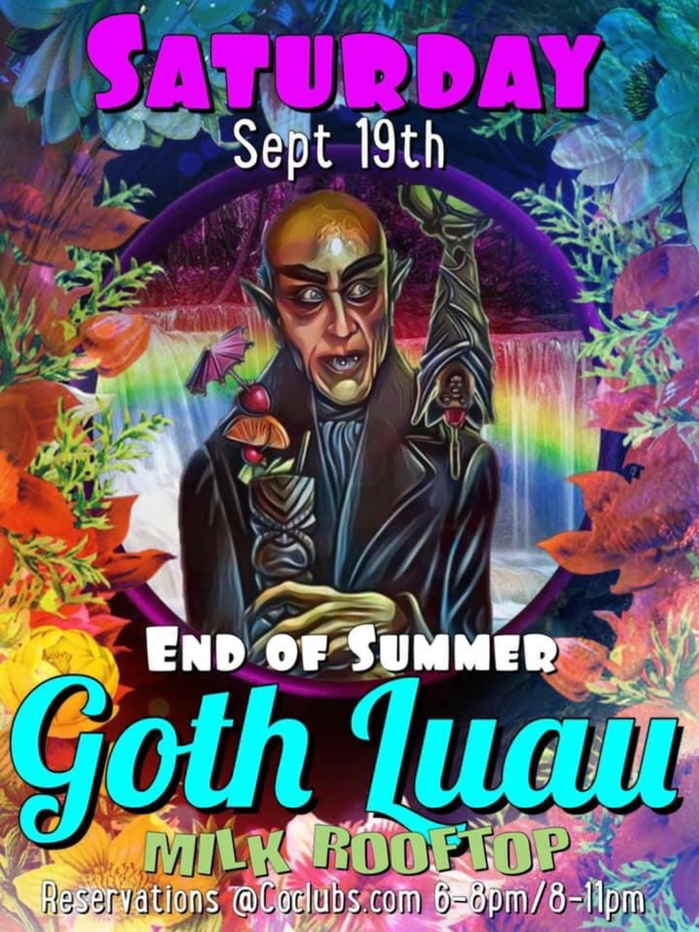 Milk Bar Denver Goth Halloween 2020 Milk Bar Presents: End of Summer Goth Luau   September 19, 2020