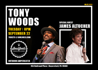 Tony Woods headlines at SoulJoel's Outdoor Amphitheater