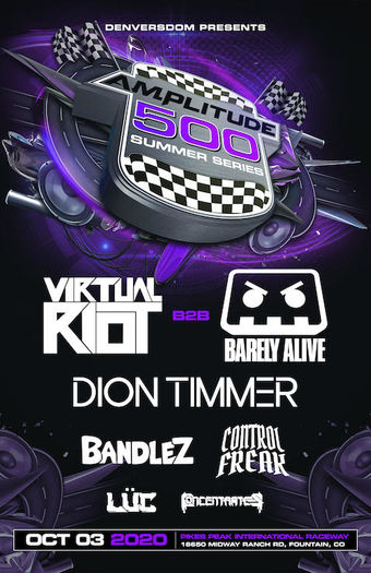 Amplitude 500 ft Virtual Riot b2b Barely Alive, Dion Timmer, Bandlez, Control Freak, Luc, & Concentrates!