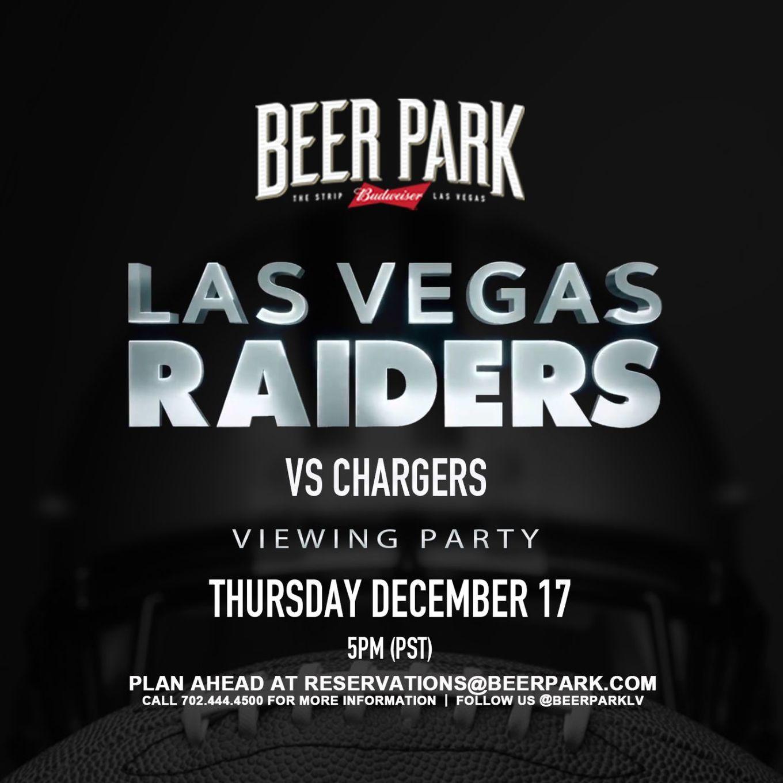 Thursday Night Football Raiders Vs Chargers Tickets Beer Park Las Vegas Nv December 17 2020