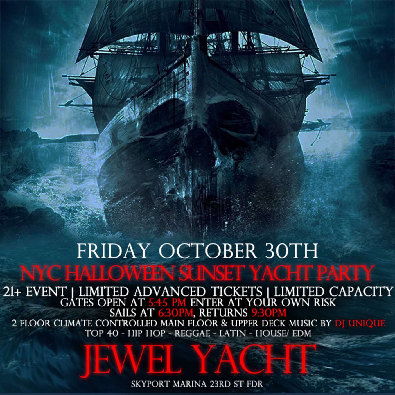 Halloween Dj Nyc 2020 NYC Halloween Hip Hop vs Reggae® Sunset Cruise Skyport