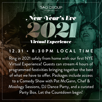 Tao Group Hospitality Virtual NYE 2021