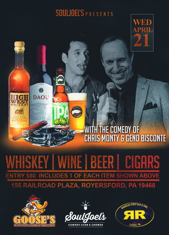 Special Event at SoulJoel's: Cigar, Whiskey, Wine and Beer Tasting