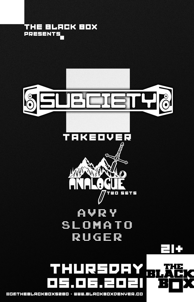 Subciety Takeover: Mt. Analogue (Two Sets), AVRY, Slomato, Ruger