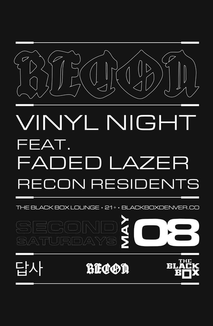 Recon DNB Takeover: Vinyl Night - Faded Lazer & Recon Residents