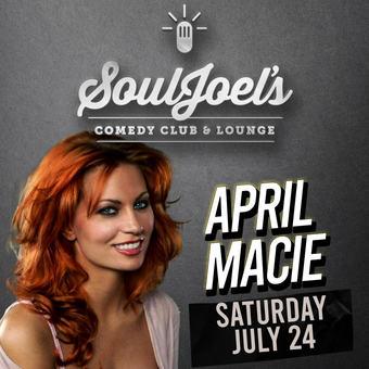 April Macie headlines SoulJoel's Comedy Dome