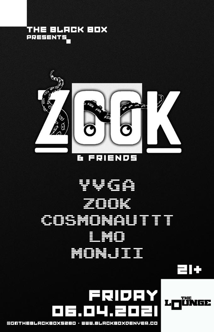 ZOOK & Friends: yvga, ZOOK, Cosmonauttt, LMO, Monjii (Free Event)
