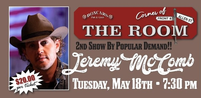 "Jeremy McComb Adds 2nd Show in ""The Room"""