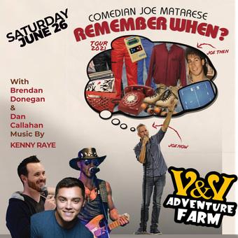 """Shamong, NJ: Joe Matarese's """"Remember When?"""" Comedy Tour at V&V Adventure Farm"""