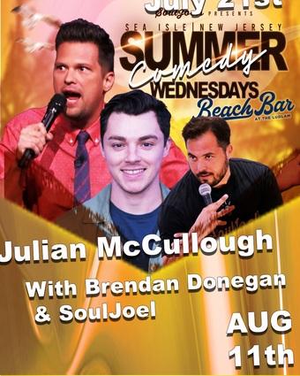 Sea Isle, NJ: Summer Comedy Wednesdays at Beach Bar at The Ludlam