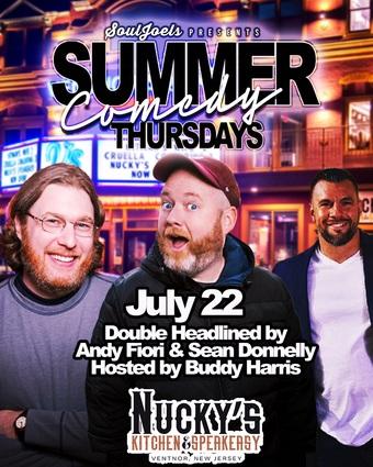Ventnor, NJ: Summer Comedy Thursdays at Nucky's Kitchen & Speakeasy