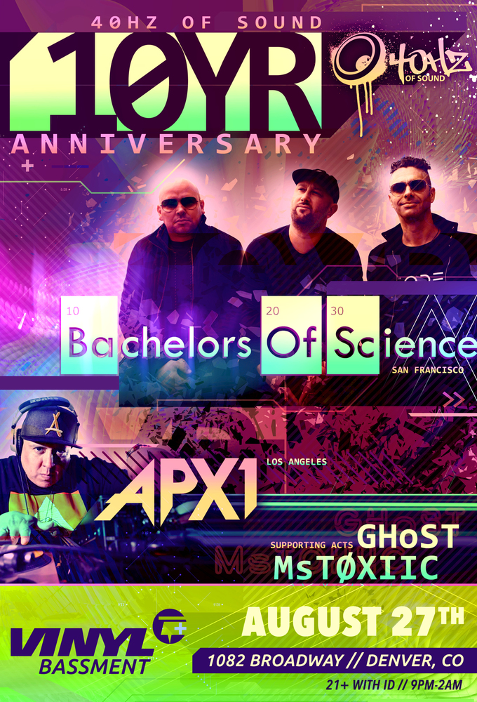 40HZ of Sound 10YR Anniversary with Bachelors of Science, APX1, GhoST and MsTOXIIC