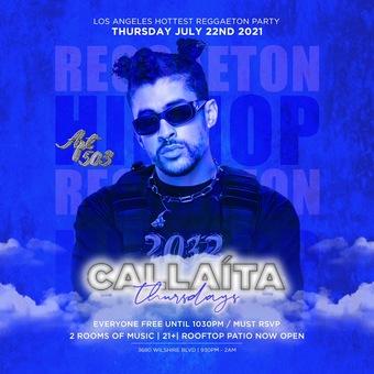 CALLAITA THURSDAYS @ APARTMENT 503 / REGGAETON PARTY + HIP HOP - FREE until 1030