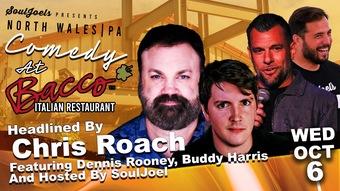 North Wales, PA: Comedy at Bacco Italian Restaurant