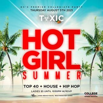 COLLEGE THURSDAYS OC @ BLEU OC 18 / HOT GIRL SUMMER PARTY