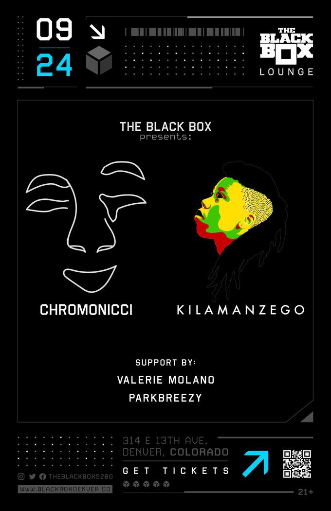 Chromonicci + Kilamanzego w/ Valerie Molano, parkbreezy