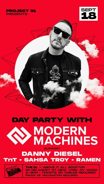 Project 91 x Above it All - Modern Machines - Rooftop Party - Saturday, September 18