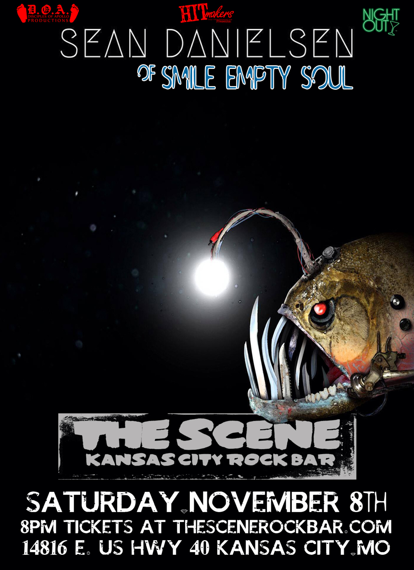 Sean Danielsen (of Smile Empty Soul) - Tickets - The Scene Rock Bar