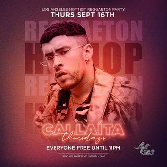 CALLAITA THURSDAYS @ APT 503 ROOFTOP / REGGAETON + HIP HOP