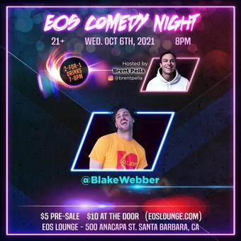 EOS Comedy Night 10.6.21 Doors 7pm