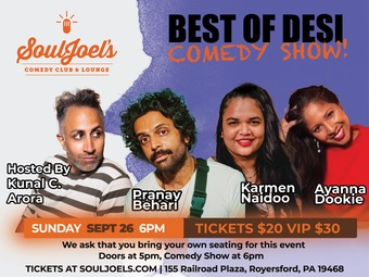 Best of Desi Comedy Show at SoulJoel's Comedy Dome